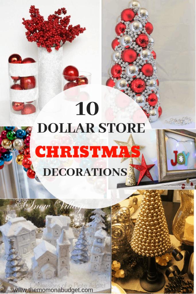 10 Dollar store Christmas decorations