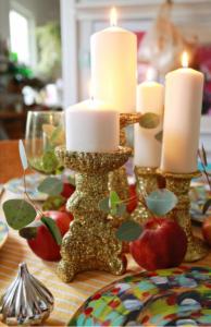Glitter candle holder