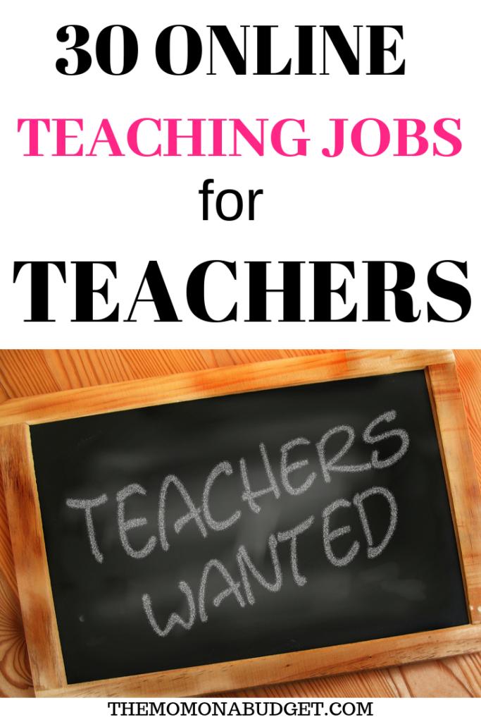 30 Online Side Jobs for Teachers