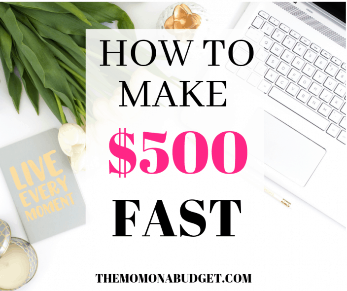 HOW TO MAKE $500 DOLLARS FAST