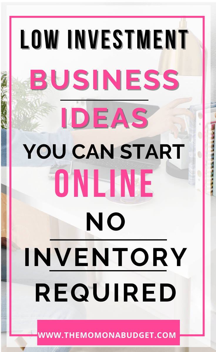 low investment business ideas zero inventory