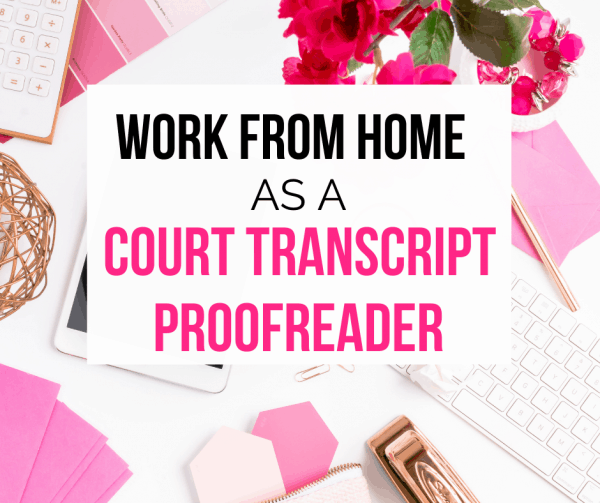 Court transcript proofreader