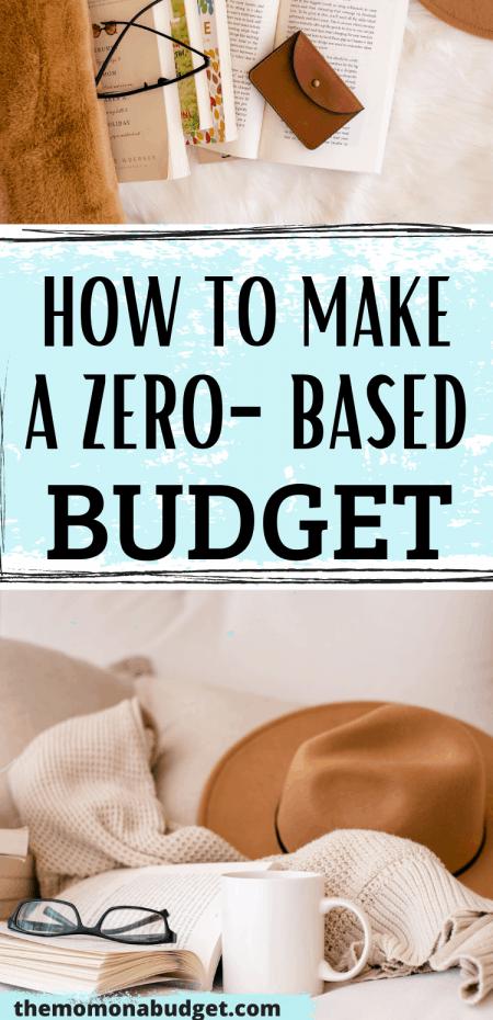 how to make a zero-based budget